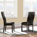 Dawson Espresso Stitching Side Chair (Set of 2)