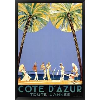 Jean-Gabriel Domerque 'Cote d'Azur' Framed Art