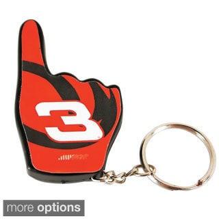 1 Fan LED Flashlight Key Chain Key Tag Official NASCAR Driver Charm Gift