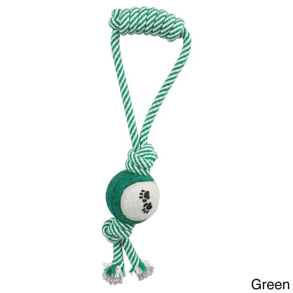 Pull Away Jute Rope/ Tennis Ball Pet Dog Toy