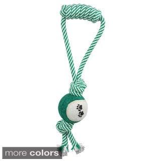Pull Away Jute Rope/ Tennis Ball Pet Dog Toy