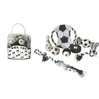Pet Life 8-piece Soccer Theme Dog Toy Set