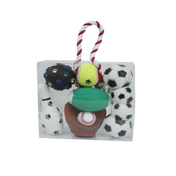 Pet Life 6-piece Sport Pet Dog Toy Set
