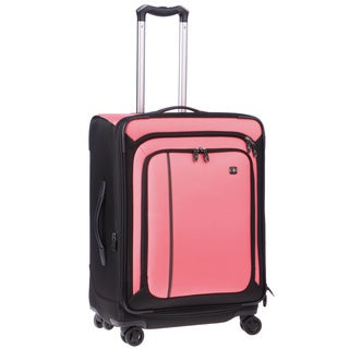 Victorinox Swiss Army Werks Traveller 4.0 Pink 24-inch Medium Dual Caster Spinner Upright Suitcase