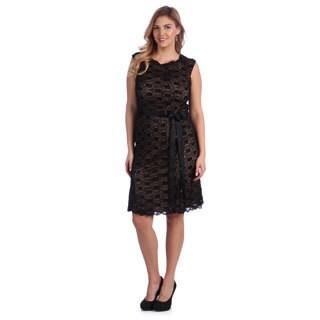 Alex Evenings Women's Plus Stretch Lace Cocktail Dress