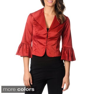 Newport News Women's Satin Bell Sleeve Jacket