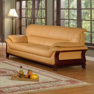 Kalina Bonded Leather Modern Sofa