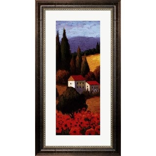 Parrocel 'Tuscan Poppies Panel I' Framed Art