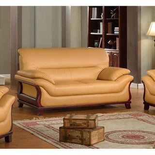 Kalina Bonded Leather Modern Loveseat