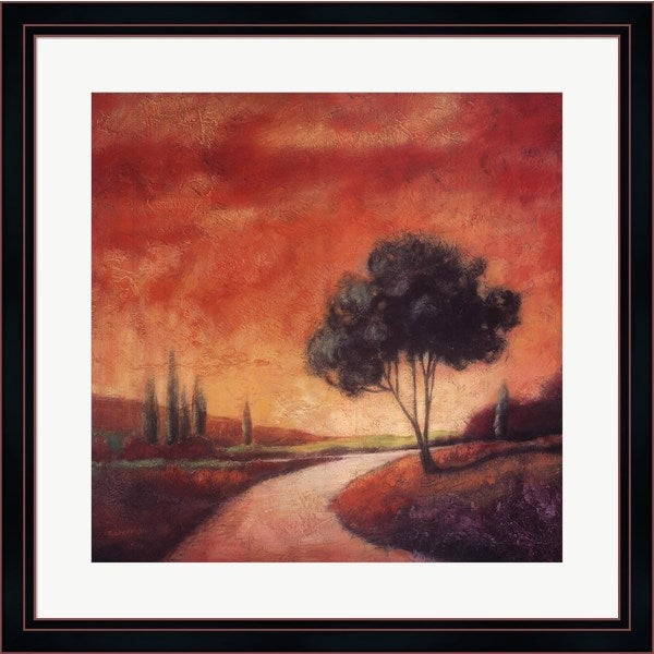 Kathryn Sherman 'Country Road I' Framed Art