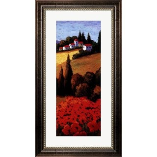 Parrocel 'Tuscan Poppies Panel II' Framed Art