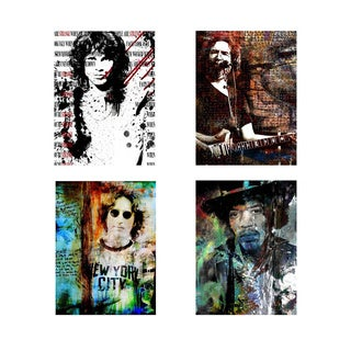 Alexis Bueno 'Rock Stars' 4-piece Canvas Wall Art