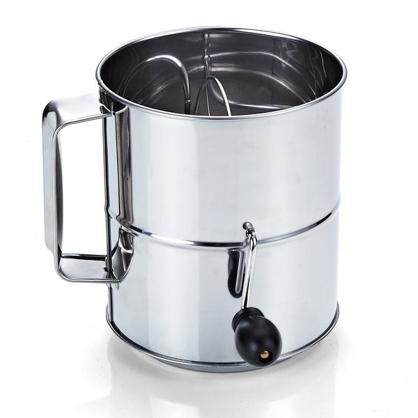 Cook N Home Stainless Steel 8-cup Flour Sifter 11890847