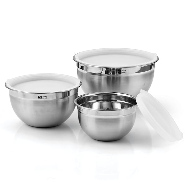 Cook N Home 6-piece Stainless Steel Mixing Bowl Set 11890864