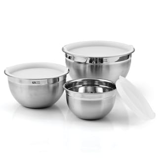 Cook N Home 6-piece Stainless Steel Mixing Bowl Set