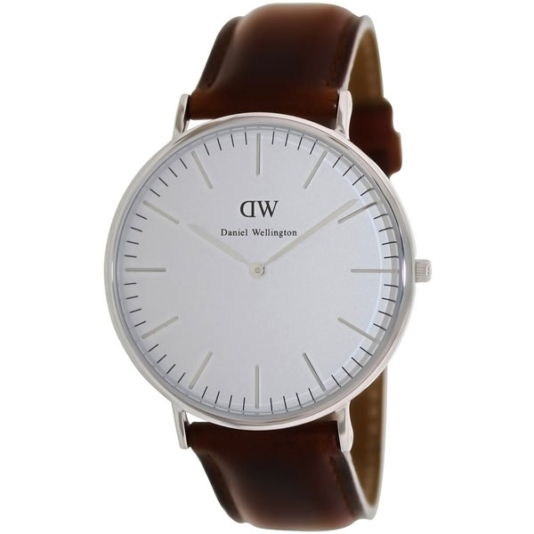 Daniel Wellington Mens Classic St. Andrews Brown Leather Quartz Watch