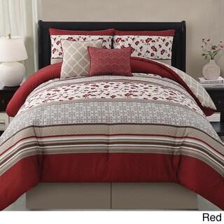 'Delancy' 5-piece Reversible Comforter Set