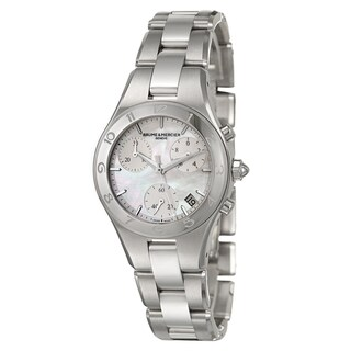 Baume and Mercier Women's 'Linea' Stainless Steel Chronograph Watch