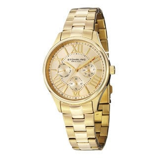 Stuhrling Original Women's Lady Majestic Gold Quartz Bracelet Watch