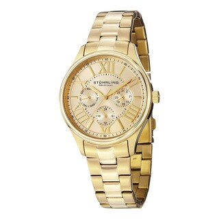 Stuhrling Original Women's Lady Majestic Goldtone Quartz Bracelet Watch