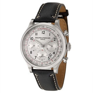 Baume and Mercier Men's 'Capeland' Stainless Steel Chronograph Watch