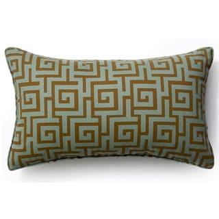 Grey Puzzle Outdoor Throw Pillow