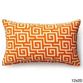 Orange Puzzle Outdoor Throw Pillow