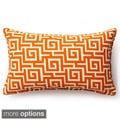 Orange Puzzle Outdoor Throw Pillow
