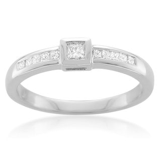14k White Gold 1/4ct TDW Princess Diamond Engagement Ring (G-H, I1-I2)