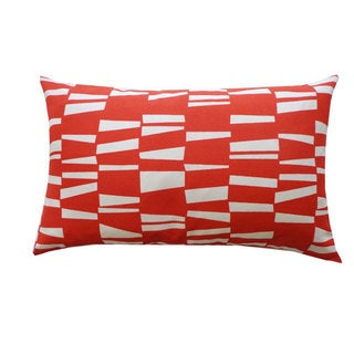 Red Angela Outdoor Throw Pillow