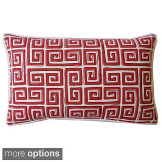 Red or Grey Coil Print Throw Pillow