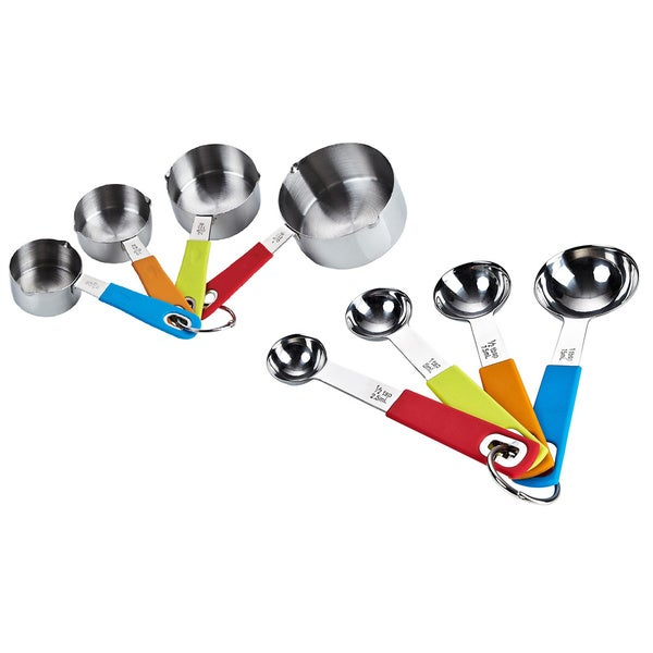 Cook N Home 8-piece Stainless Steel Measuring Spoon and Cup Set 11891307