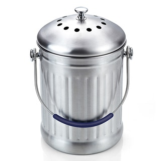 Cook N Home Stainless Steel 1-gallon Kitchen Compost Bin