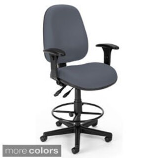 Offex Mid Back Fabric Seat Mesh Drafting Stool 16903205