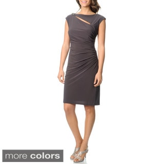 R & M Richards Women's Side Rouched Dress