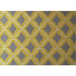 Hand-hooked Marrakesh Yellow Area Rug (5' x 7')