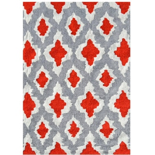 Ethnic Red UV Poly Area Rug (7' x 10')