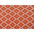 Hand-hooked Tangier Orange Area Rug (5' x 7')