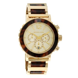 Michael Kors Women's Tortoise Chronograph Watch
