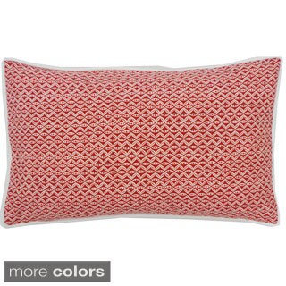 Red or Blue Equis Throw Pillow