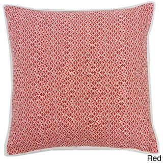 Red or Blue Square Equis Throw Pillow