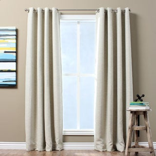 Solid Textured Insulated Thermal Blackout Curtain Panel