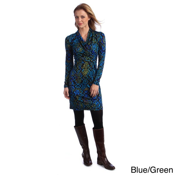 Amelia Women's Shawl Collared Shirt Dress