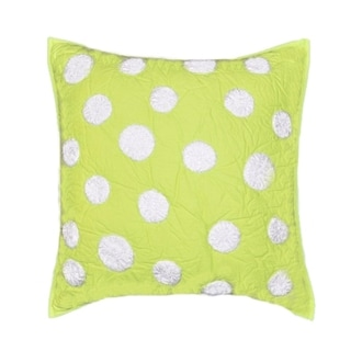 Lime Green Dot Decorative Pillow