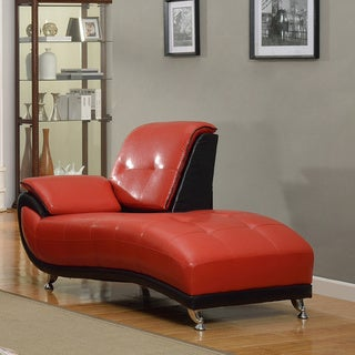 Mark Faux Leather Chaise Lounge Chair