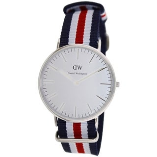 Daniel Wellington Men's Classic 'Canterbury' Multicolored Cloth Quartz
