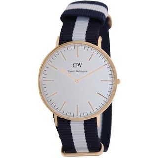 Daniel Wellington Men's Classic Glasgow White Dial Quartz Watch