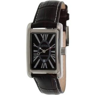 Izod Men's Brown on Brown Leather Analog Quartz Watch