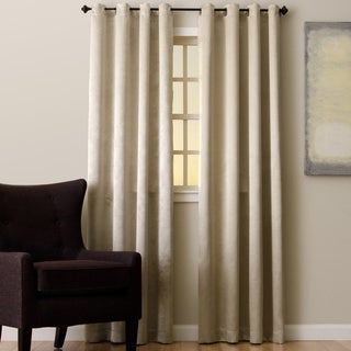 EverRouge Beige Polyester Floral Solar Blackout Curtain Panel