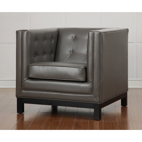 Zoe Grey Leather Chair